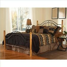 Hillsdale Winsloh Headboard - King - w/Rails Black/Medium Oak 164HKR Headboard