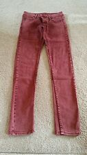 Ladies Cheap Monday Red Skinny Jeans Size 28/32