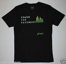 ASICS Pound The Pavement T-Shirt sz S Small Black Running Elite Kinsei Kayano