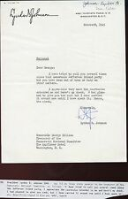 Lyndon Baines Johnson signed Letter TLS as Seanator 1945 - EX Con.