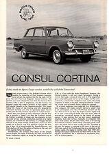 1963 FORD CONSUL CORTINA  ~  ORIGINAL 4-PAGE ROAD TEST / ARTICLE / AD