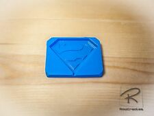 Superman logo silicone mould/mold. lollies,choc,cake topper, soap, candles,craft