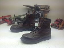 DISTRESSED RED WING 953 USA BROWN LEATHER LACE UP ENGINEER PACKER BOSS BOOTS 11B