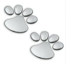SILVER COLOUR MULTI PART PAW PRINT WALL DECAL STICKER (BRAND NEW)