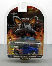 1 Badd Ride Blown 1:64 Scale 2005 Ford Mustang GT Diecast Car Blue Series 8