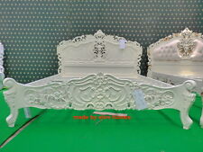 UK STOCK UK King 5' Cream Ivory French style designer Rococo Bed ... Top Quality