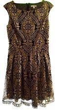 """***EVA MENDES NEW YORK & COMPANY """"LANA"""" SEQUIN DRESS IN BLACK & GOLD SIZE 8***"""