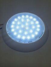 """#MARINE BOAT RV  5-1/2"""" DOME LIGHT WHITE PLASTIC 30 LED 12V WARM WHITE No SWITCH"""
