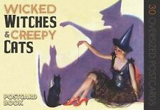 Wicked Witches and Creepy Cats : A Halloween Postcard Book by Green Tiger...