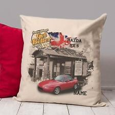 Personalised MAZDA MX5  Classic Car Vintage Cushion Cover Dad Gift