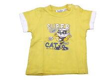Tdm Mini tolles T-Shirt Gr. 74 gelb mit Katzenmotiv !!