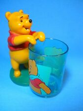 "Winnie the Pooh Toothbrush Pencil Holder plastic Cup, Disney 5"" tall"