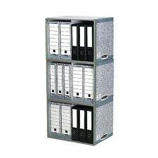 FELLOWES BANKERS BOX SYSTEM FILE STAX STORE STORAGE UNIT / GREY / 5 PACK / 01850