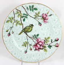 FINE OLD ANTIQUE MINTON CHINA G5242 CABINET PLATE HAND PAINTED BIRD FLOWERS GOLD