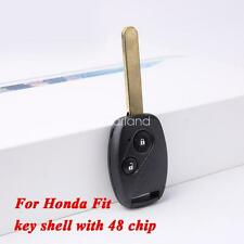 for Honda FIT locking shell cover bag with 48 chip car remote control smart key