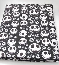 NIGHTMARE BEFORE CHRISTMAS Jack Skellington Black  Polycotton Fabric Fat Quarter