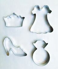 Princess Dress Glass Shoe Tiara / Crown Ring Cookie Cutter from Williams Sonoma