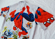 SPIDER-MAN Short Sleeve Casual Shirt - Mens Large Polyester VENOM Doc Oct COOL