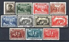"""MONACO STAMP 54 / 64 """" SERIE 10 TIMBRES ALBERT MUSEE PALAIS """" OBLITERES TB  P390"""
