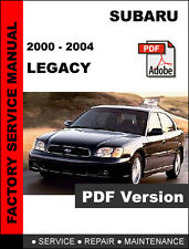 SUBARU 2000 2001 2002 2003 2004 LEGACY ULTIMATE FACTORY SERVICE REPAIR MANUAL