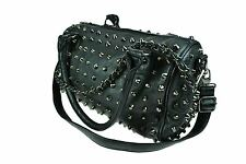 POIZEN INDUSTRIES ANARCHY BAG BLACK SPIKES GOTH EMO PUNK LADIES HANDBAG