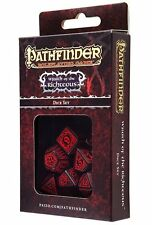Q-workshop 7 Dice Set of Black & Red Pathfinder Wrath of the Righteous SPAT06