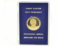 JIMMY CARTER 39TH PRESIDENT INAUGURAL GENUINE 10K GOLD MEDAL