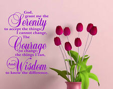 SERENITY PRAYER Inspirational Quote decal sticker vinyl wall art decoration SP1