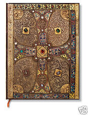 Paperblanks Lined Writing Journal Lindau Gospel Design Brown Gold Ultra Size 7x9