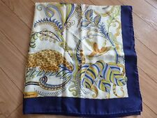 Used SALVATORE FERRAGAMO Silk large scarf 86 x 86 cm