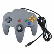 Generic Wired USB Joystick Look Like For N64 Controller For PC Gray Grey