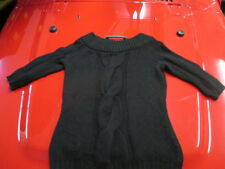 VINCE Black 100% Cashmere Funnel Neck Pullover Sweater Size S FREE SHIPPING!