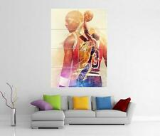 MICHAEL JORDAN & KOBE BRYANT LAKERS BULLS GIANT WALL ART PHOTO PRINT POSTER