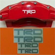 TRD Brake Caliper HIGT TEMPERATURE Decal Sticker Set of 4 (Silver)