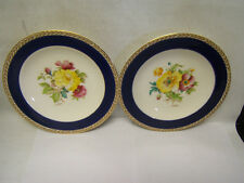Vintage Crown Ducal China Handpainted Flowers Poppy & Rose England Lot of 2
