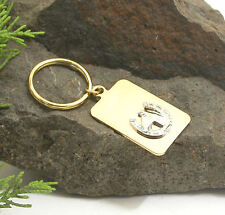 HORSE & WESTERN GIFTS ACCESSORIES HORSE HEAD  IN  HORSESHOE KEY RING KEY CHAIN