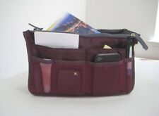 Women Travel Insert Handbag Organizer Purse Large Liner Tidy Bag Pouch(Wine Red)