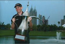 Stephen GALLACHER SIGNED Autograph Photo AFTAL COA Dubai Desert Classic WINNER