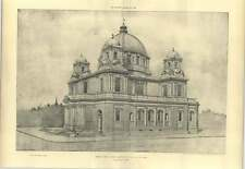 1904 Perspective View Of Design For A Domed Church Lionel Grace