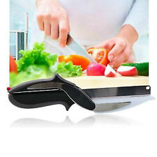 Clever Cutter 2 in 1 Knife Slicing Dicing Cutting Board Food Chopper