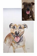 ORIGINAL COMMISSION, ANIMAL PAINTINGS,DOGS COMMISSION,PET ART,A3 SIZE,ARTIST