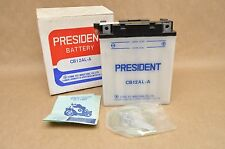 NOS New Vintage Aftermarket President 12V Battery CB12AL-A for Honda Yamaha BMW