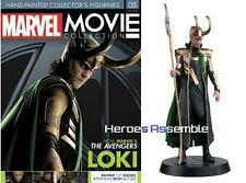 MARVEL MOVIE COLLECTION #5 LOKI Statuina MAGAZINE TOM HIDDLESTON Eaglemoss Nuovo