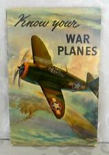 1943 KNOW YOUR WAR PLANES, By Coca Cola Co. Excellent Condition