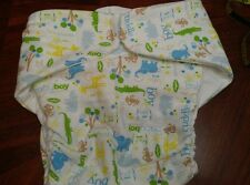 Adult flannel cloth incontenence medical diaper fitted baby boy elephant med LG