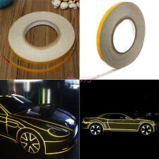 SAFETY FIRST! 1CM X 45M ROLL YELLOW REFLECTIVE TAPE STRIPE FOR CARS/TRUCKS