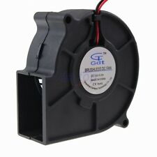 75MM 12V 2Pin Ball Bearing Brushless DC Centrifugal Blower Cooling Fan 75x30mm