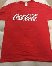 Coke Coca-Cola Red Short Sleeve T Shirt Men's size Large Med NEW Various Sizes