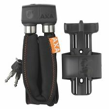 NEW! AXA 800 Foldable Bicycle Lock with Bottle Cage Mount Frame Holder