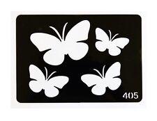 Pochoir Papillons Tatouages Paillettes, Aérographe ou Décoration
